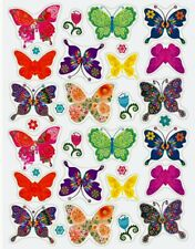 Gorgeous Floral Butterfly Stickers Usa Made #2 Fast Usa Shipping!