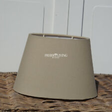 Lampenschirm Beige oval konisch Maison Style shabby chic HOME Tischleuchte