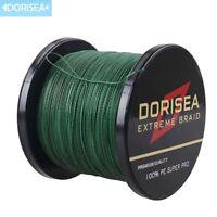 Premium Braid Dorisea Moss Green 100M-2000M 6-300LB Dyneema Braided Fishing Line