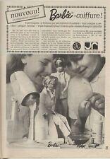 Publicité de presse Mattel Poupée Mannequin Barbie et Midge Coiffure 1966