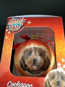 Home Decor CockaPoo   Christmas Baubles Dog
