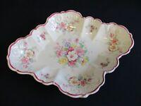 Hand Painted Dish, Old Foley James Kent Bone China, Flowers, Pink, Vintage