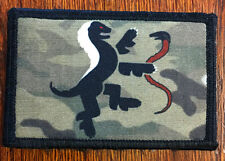 Multicam Team Honey Badger Morale Patch Tactical ARMY Hook Military Funny Flag