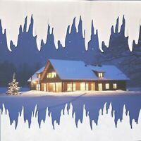 2m Icicle Garland Christmas Decoration Winter Snow Border Fringe Window Frost