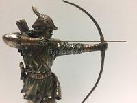 "Robin Hood Shooting Arrow Statue Figure Figurine Sculpture Home Decor 12"""