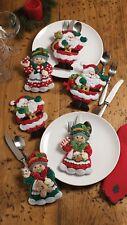 Bucilla Santa & Mrs. Claus ~ Felt Christmas Silverware Holder Kit #86310, 6 Pces