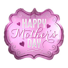 Happy Mothers Day Pink Marquee Satin Luxe Foil Balloon Decoration Party Events