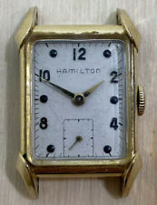 Vintage HAMILTON 982 Mens Tank Wristwatch 14k GOLD FILLED Winds and Works