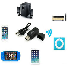 3.5mm Stereo Audio Music Speaker Receiver Adapter USB Dongle Bluetooth Wireless