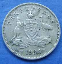 Australie - Australia 1936 3 pence, three pence,George V Silver KM# 24