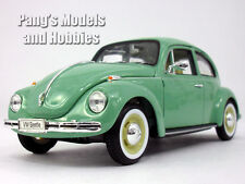 Volkswagen (VW) Classic Beetle 1/24 Scale Diecast Metal Model by Welly - GREEN