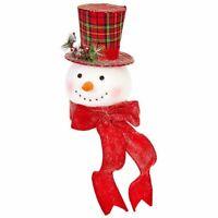 "NEW!~RAZ Imports~19/"" Vintage Whimsical Snowman On Snow Ball~Set 2~Christmas~Tree"