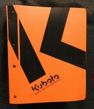KUBOTA M8560 & M9960 TRACTOR SERVICE REPAIR MANUAL + BINDER VERY NICE SHAPE