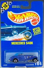 Hot Wheels No. 164 Mercedes 540K Blue Metal Flake BW's Speed Points MOC 1992