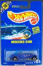 Hot Wheels No. 164 Mercedes 540K Blue Metal Flake BW's Speed Points MOC 1992