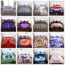 3D Duvet Cover Sport Skull Animal Galaxy Bedding Set Quilt Cover Pillowcases Hot