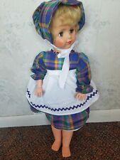 "Vintage EEGEE 23"" Fashion Doll with plaid Dress Sleeper Eyes"