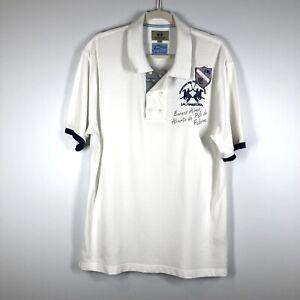 La Martina Men's 2XL logo polo shirt Buenos Aires Argentina 100% cotton Rare