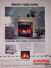 PUBLICITÉ 1987 INSERTS TURBO SUPRA LA FLAMME DE L'INVENTION - ADVERTISING