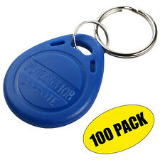 EM4100 125KHz RFID EM ID Card Tag Token Key Chain Keyfob Read Only (100 Pack)