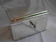 ANTIQUE SILVERPLATE JEWEL BOX,HALLMARKED,LATE 19th OR EARLY 20th CENTURY