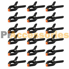 """18 Pcs 2.7"""" inch Mini Plastic Spring Clamps Tips Tool Clip 1"""" Jaw Opening"""