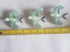 More details for 3 vintage wade porcelain flying wall birds swallows mourne range armagh ireland