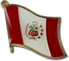 Peru Country Flag Bike Motorcycle Hat Cap lapel Pin
