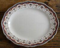 Antique Royal Doulton Apsley Multicoloured Serving Platter 28.5cm - Rare Pattern