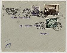 ÖSTERREICH 1938 BRIEF, INNSBRUCK nach BREGENZ