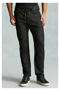 True Religion Men's Slim Twisted Dean Relaxed Coated Jeans (28, 33, 40, 42)