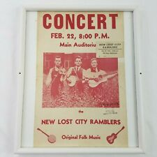New Lost City Ramblers Concert Poster & Ticket - February 22, 1968 Mankato State