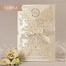 Intricate Filigree Laser Cut Wedding Invitation Handmade * SAMPLE ONLY *