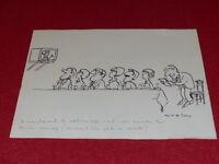 "[Comic Zeichnung Humor Presse] Metall / Original Sign "" Fernsehturm "" Ca 1960"