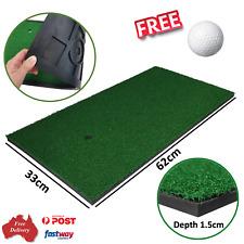 Golf Practice Mat Portable Grass Mat Hitting Mat with Free Ball 62 cm x 33 cm