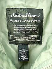 EDDIE BAUER Quilted Goose Down Vest Men's 2XL XXL XX-LARGE Green Premium Puffer