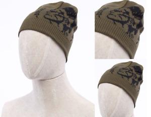 DIESEL K-GRAFIS Unisex Cotton Long Strick Mütze MARSY Logo Beanie Cap Slouch Hat