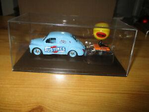 voitures miniatures RENAULT 4CV ELLIGOR 1/43 le tour de France RUSTINES