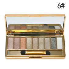 9 Colors Shimmer Eyeshadow Eye Shadow Palette & Makeup Cosmetic Brush Set TR New