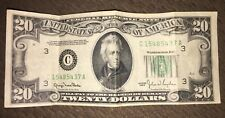 Old Paper Money 1950 Twenty $20 Dollar Bill Federal Reserve Note C series