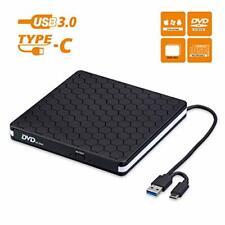 Externes CD DVD Laufwerk USB 3.0 mit Type-C Portable DVD/CD Brenner