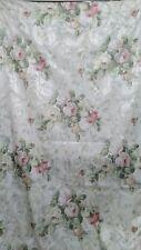 Burlington Rod Pocket Drapes & Valances Pink & White Roses