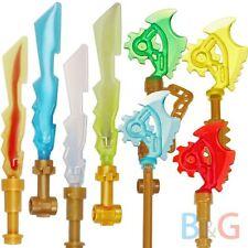 Lego Ninjago Weapon 4 Techno Blades Techno-Blade + 4 Elemental Swords Blades