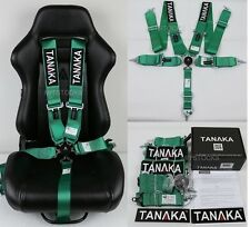 "1 TANAKA GREEN 5 POINT CAMLOCK RACING SEAT BELT HARNESS 3"" SFI 16.1 CERTIFIED"