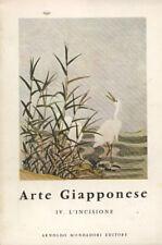 Arte Giapponese vol. IV. L' incisione. Alain Lemière. 1958. IED.