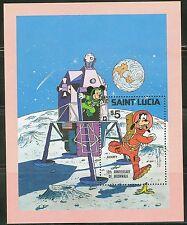 St. Lucia Disney Moon Landing Souvenir Sheet Scott#500 Mint Nh