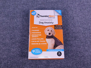 ThunderShirt Classic Dog Anxiety Jacket Vet Recommended Calming Heather Gray, L