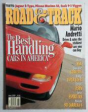 ROAD & TRACK CAR MAGAZINE 1999 JUNE CORVETTE NSX VIPER GTS F355 CARRERA 911