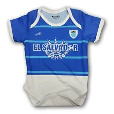 El Salvador Soccer Baby Outfit Jumpsuit Mameluco Size 12-18 Months