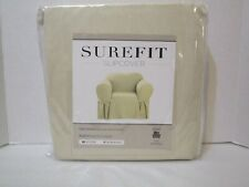 Sure Fit Cotton Duck Chair Slipcover, Color: Natural. Relaxed Fit,FACTORY SEALED